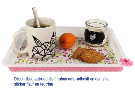 Plateau en PVC blanc - Outils et colles – 10doigts.fr