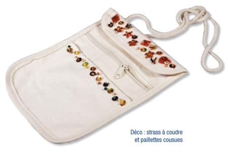 Pochette à bandoulières en coton naturel 3 poches - Tutos Fête des Mères – 10doigts.fr