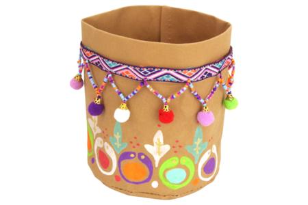 Galon multicolore pompons perles - 1 m - Rubans et cordons – 10doigts.fr