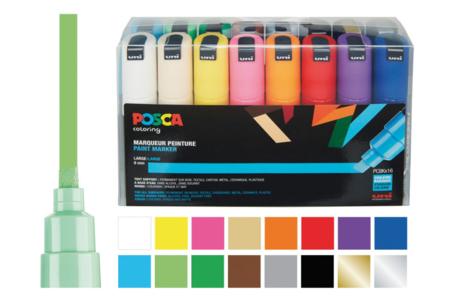 Marqueurs peinture POSCA - Pointes larges - Feutres pointes larges – 10doigts.fr