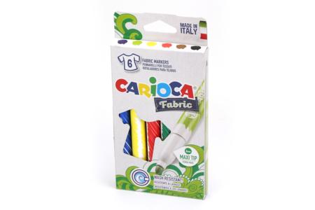 Marqueurs textiles - set de 6 - Feutres textiles – 10doigts.fr
