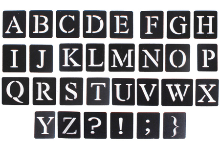 "Pochoirs adhésifs repositionnables ""Alphabet"" - Pochoirs Alphabets – 10doigts.fr"