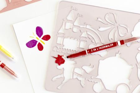 Pochoirs féérie - Set de 6 - Pochoirs Nature – 10doigts.fr