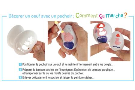 Pochoirs pour oeufs - 3 motifs - Oeufs – 10doigts.fr