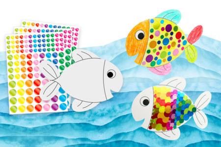 Poissons à décorer - 6 poissons - Kits activités Pâques – 10doigts.fr