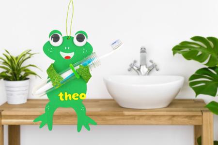 Grenouille porte brosse à dents - Kits activités fête des pères – 10doigts.fr