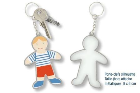 Porte-clés silhouette - Plastique Transparent – 10doigts.fr