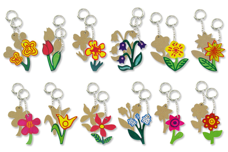 Porte-clefs fleurs en bois MDF - Tutos Porte-clés et Grigris – 10doigts.fr