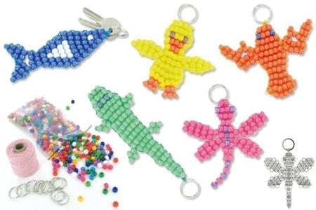 Porte-clés en perles plastique - Porte-clefs, gri-gris – 10doigts.fr