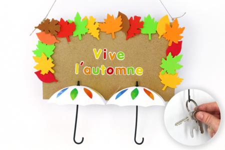 Porte-clés mural d'automne - Tutos Automne – 10doigts.fr
