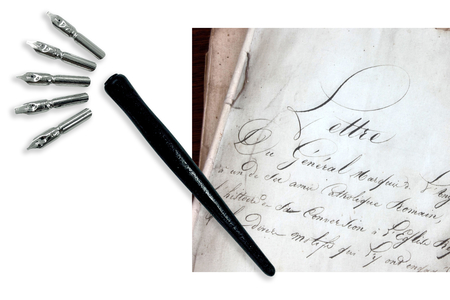 Porte-plumes + 6 Plumes Calligraphie - Calligraphie, Ecriture – 10doigts.fr
