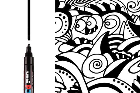 Marqueur Posca PC5M - Noir ou blanc - Marqueurs POSCA – 10doigts.fr