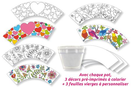 Pot de fleurs à décorer - Tutos Fête des Mères – 10doigts.fr