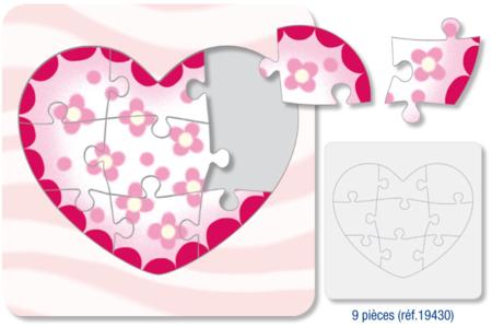 """Puzzle  """"Coeur"""" à colorier - Puzzles à colorier, dessiner ou peindre – 10doigts.fr"""