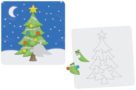 """Puzzle """"Sapin"""" à colorier - Puzzles à colorier, dessiner ou peindre – 10doigts.fr"""