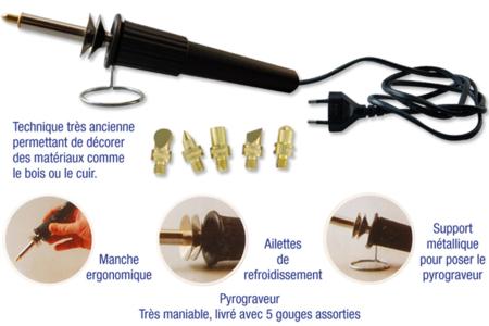 Pyrograveur - Décoration d'objets – 10doigts.fr