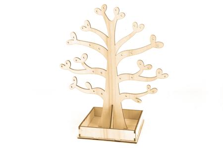 Arbre Porte-bijoux en bois 20 cm - Rangements – 10doigts.fr