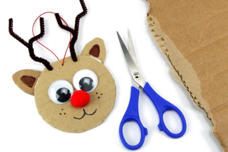 Renne en carton recyclé - Noël - 10doigts.fr