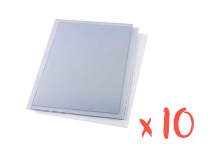 Plastique rhodoïd transparent - 10 feuilles - Feuilles en plastique – 10doigts.fr