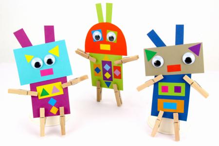 Robots rigolos en papier - Personnages rigolos – 10doigts.fr
