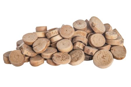 Rondelles en bois flotté - environ 550 rondelles - Décorations en Bois – 10doigts.fr