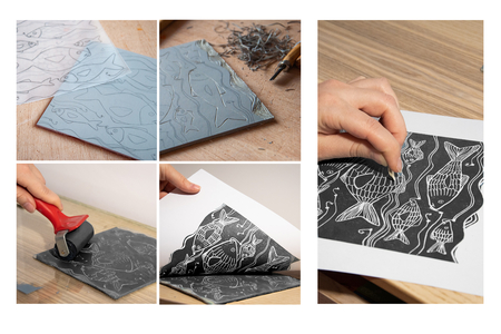 Rouleau en caoutchouc résistant - Linogravure – 10doigts.fr