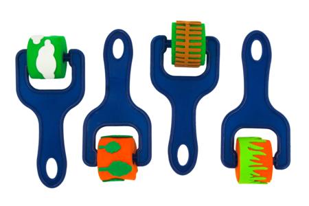 Rouleaux à empreintes - Set de 4 motifs - Rouleaux – 10doigts.fr