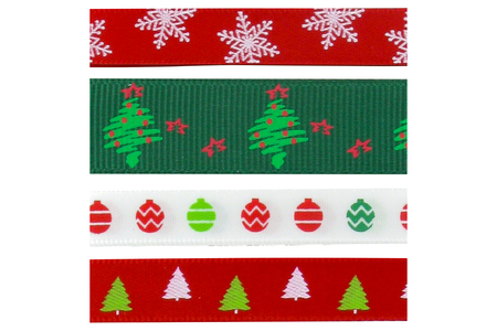Rubans de Noël - Set de 4 - Rubans et ficelles – 10doigts.fr