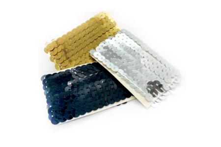 Rubans en sequin or, argent ou noir - Rubans et cordons – 10doigts.fr