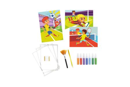 Coffret Sport 1 - Activité Sables colorés - Sable coloré – 10doigts.fr