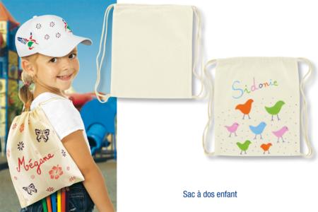 Sac à dos enfant en coton - Décoration d'objets – 10doigts.fr