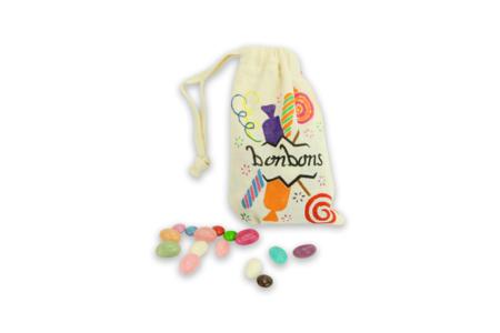 Pochette en coton avec fermeture par cordon - Coton, lin – 10doigts.fr