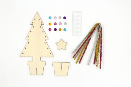 Kit sapin de Noël en bois à décorer - Noël – 10doigts.fr