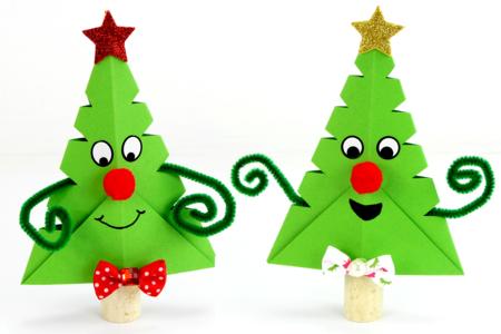 Sapin de Noël rigolo en papier - Noël – 10doigts.fr