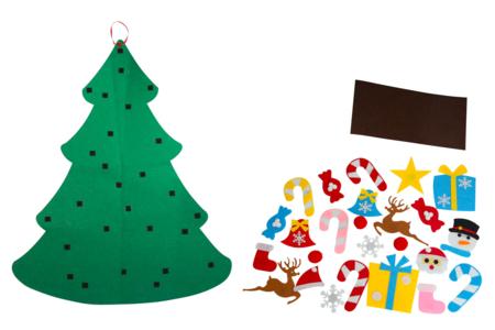 Sapin géant en feutrine + accessoires - Kits d'activités Noël – 10doigts.fr