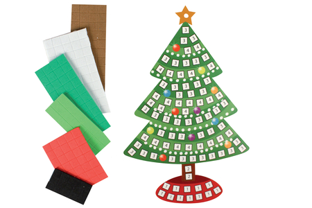 Suspension de Noël avec mosaïques - Activités de Noël en kit – 10doigts.fr