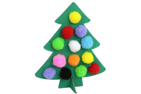 Sapins à pomponner - Kit pour 6 réalisations - Kits d'activités Noël – 10doigts.fr
