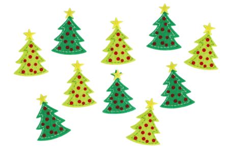 Sapins en feutrine - 20 stickers - Gommettes et stickers Noël – 10doigts.fr