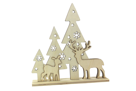 Scène de Noël bois à poser - Noël – 10doigts.fr