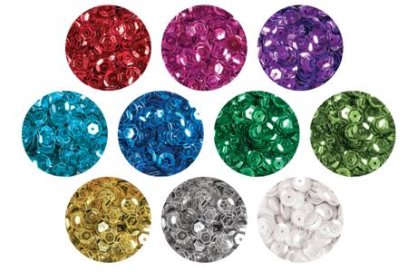 Sequins couleurs assorties à facettes - Set de 20000 paillettes - Sequins – 10doigts.fr