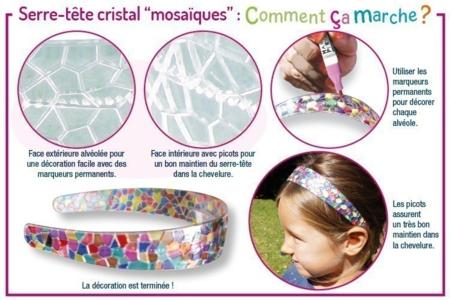 """Serre-têtes cristal """"mosaïques"""" à décorer - Tutos Fête des Mères – 10doigts.fr"""