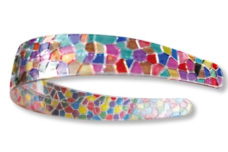 """Serre-têtes cristal """"mosaïques"""" à décorer - Lot de 3 - Bijoux de cheveux – 10doigts.fr"""