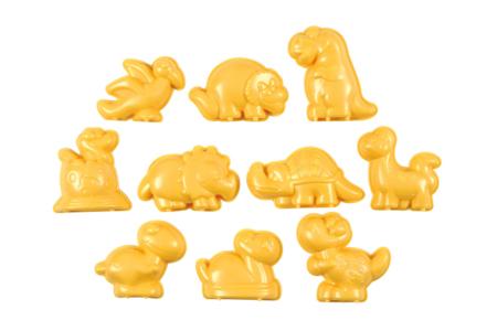 Moules dinosaure en plastique - Set de 10 - Moules pour plâtre, savon, béton ... – 10doigts.fr