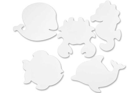 Silouhettes Animaux marins - 16 formes - Supports blancs – 10doigts.fr