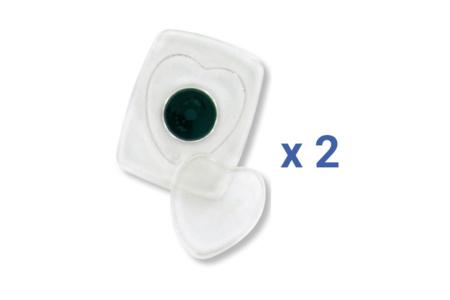 Magnets cœurs - Lot de 2 - DESTOCKAGE – 10doigts.fr
