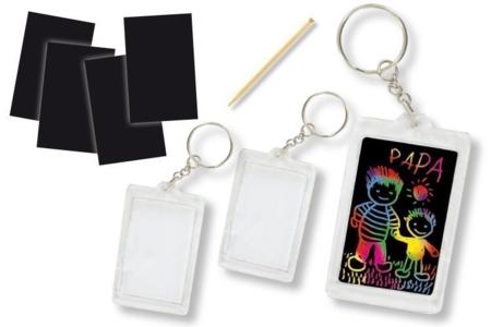 Porte-clés et carte à gratter + grattoirs - Lot de 2 - Cartes à gratter – 10doigts.fr