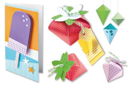 Papiers  épais 24 x 34 cm - 20 feuilles assorties - Papiers motifs géométriques – 10doigts.fr