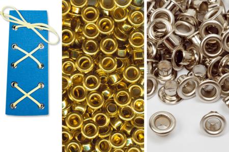Œillets en métal assortis - Set de 200 - Attaches parisiennes et oeillets – 10doigts.fr