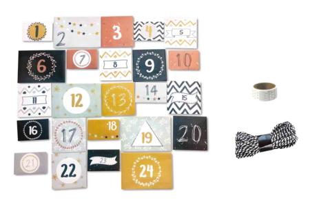 Enveloppes calendrier de l'avent numérotée - Calendrier de l'avent – 10doigts.fr