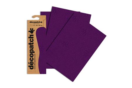 Papier Décopatch Violet - 3 feuilles N°652 - Papiers Décopatch – 10doigts.fr